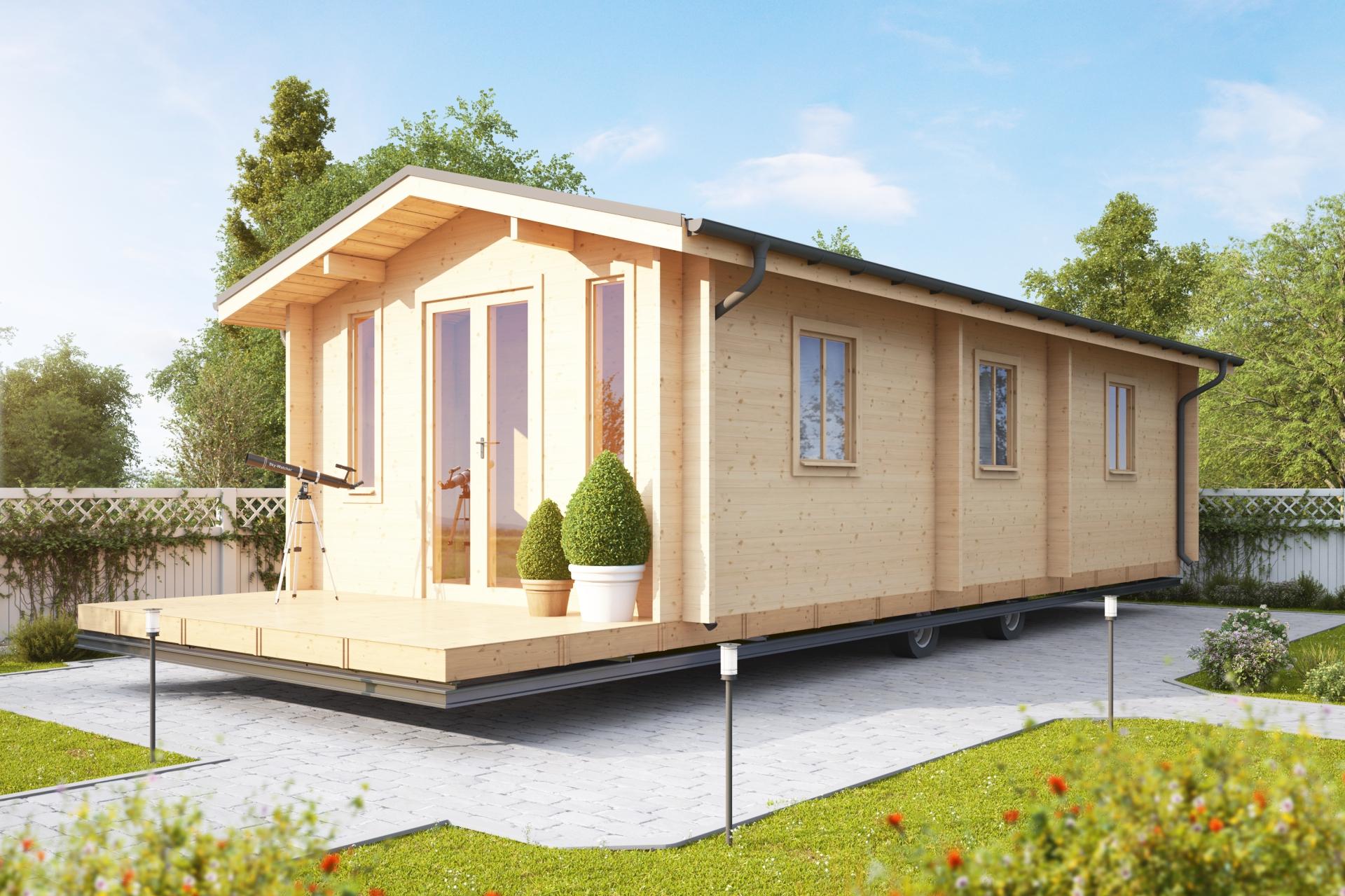 Static Caravan Square Log Estonian Log Cabins