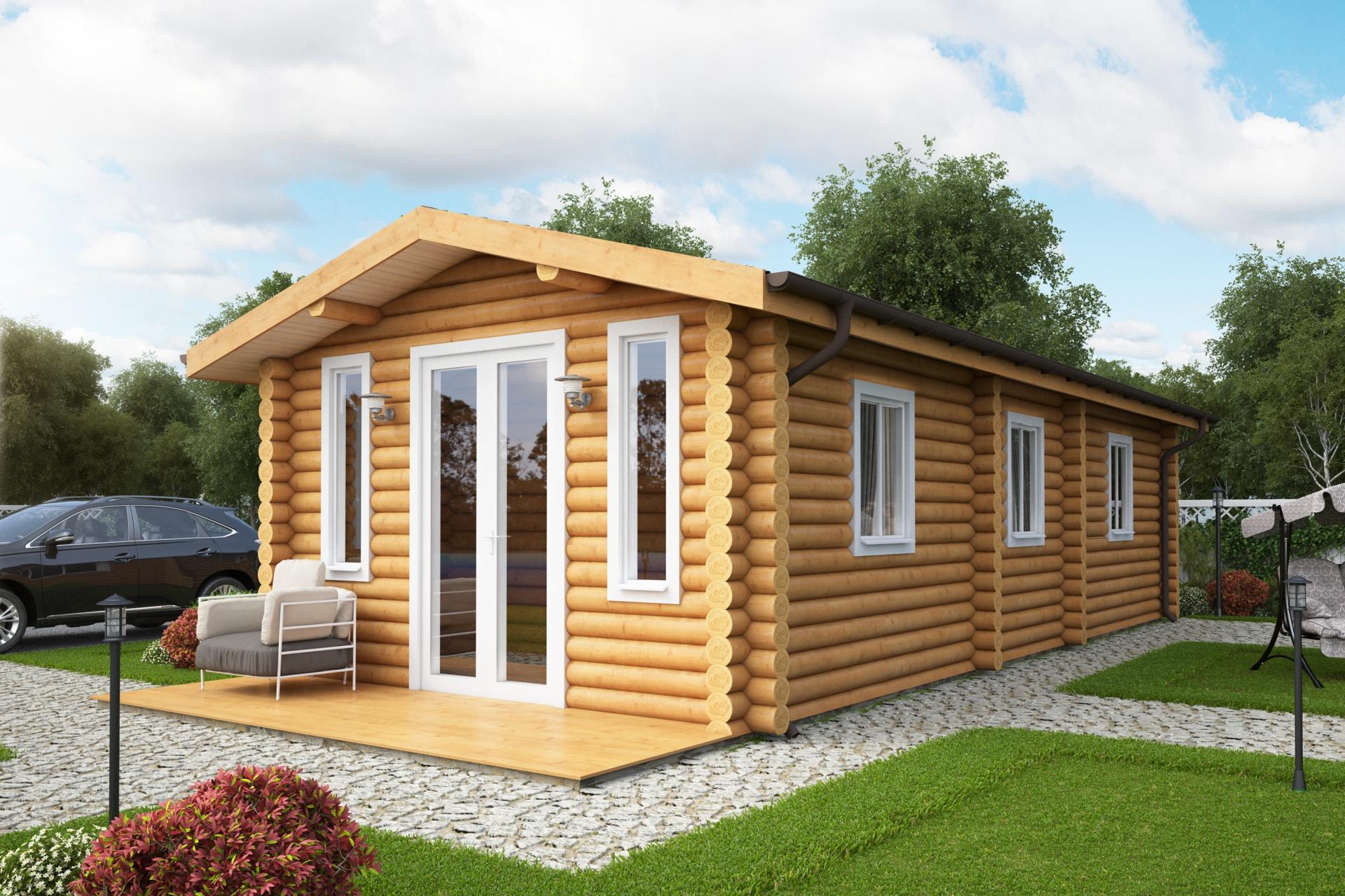 Static Caravan Round Log Estonian Log Cabins