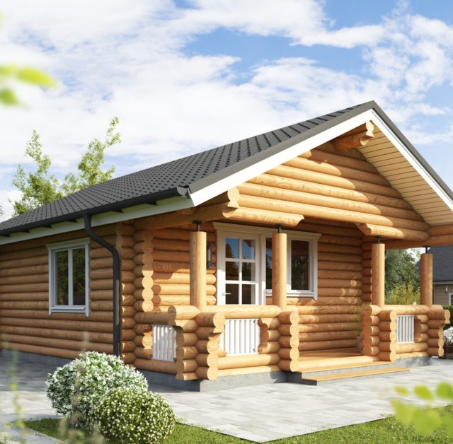 We produce milled round log cabins and handcrafted square